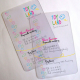 Cartes de visite en PVC transparent